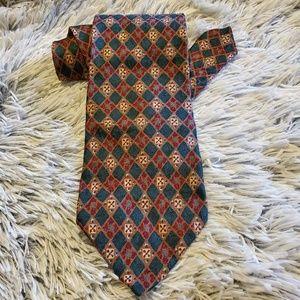 Ermenegildo Zegna Soft Geometric Design Silk Tie